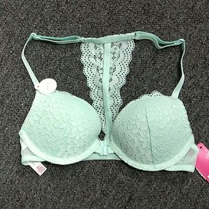 Racer back push-up wire Lace bra